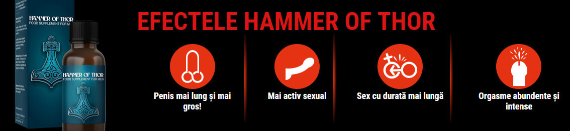 Hammer of Thor – compoziţia şi modul de administrare al produsului